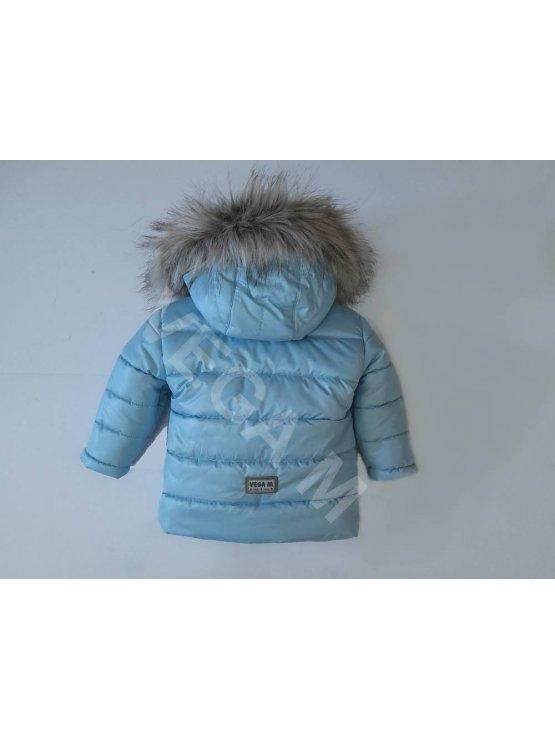 Детско зимно яке за момче в светло син цвят