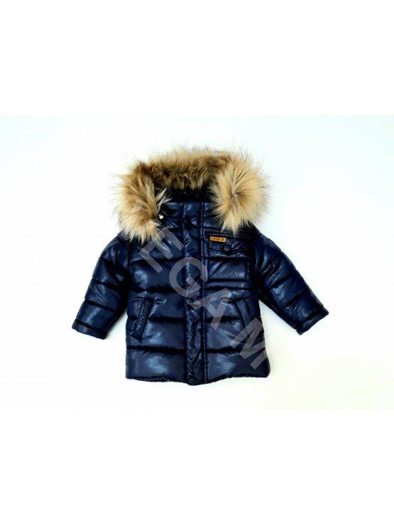 Детско зимно яке за момче в тъмно син цвят